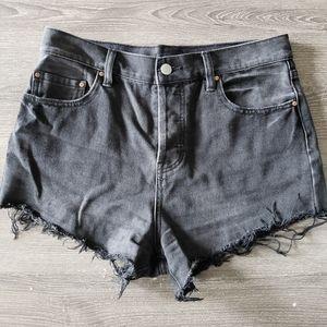 LIKE NEW - Black Denim Shorts | 29
